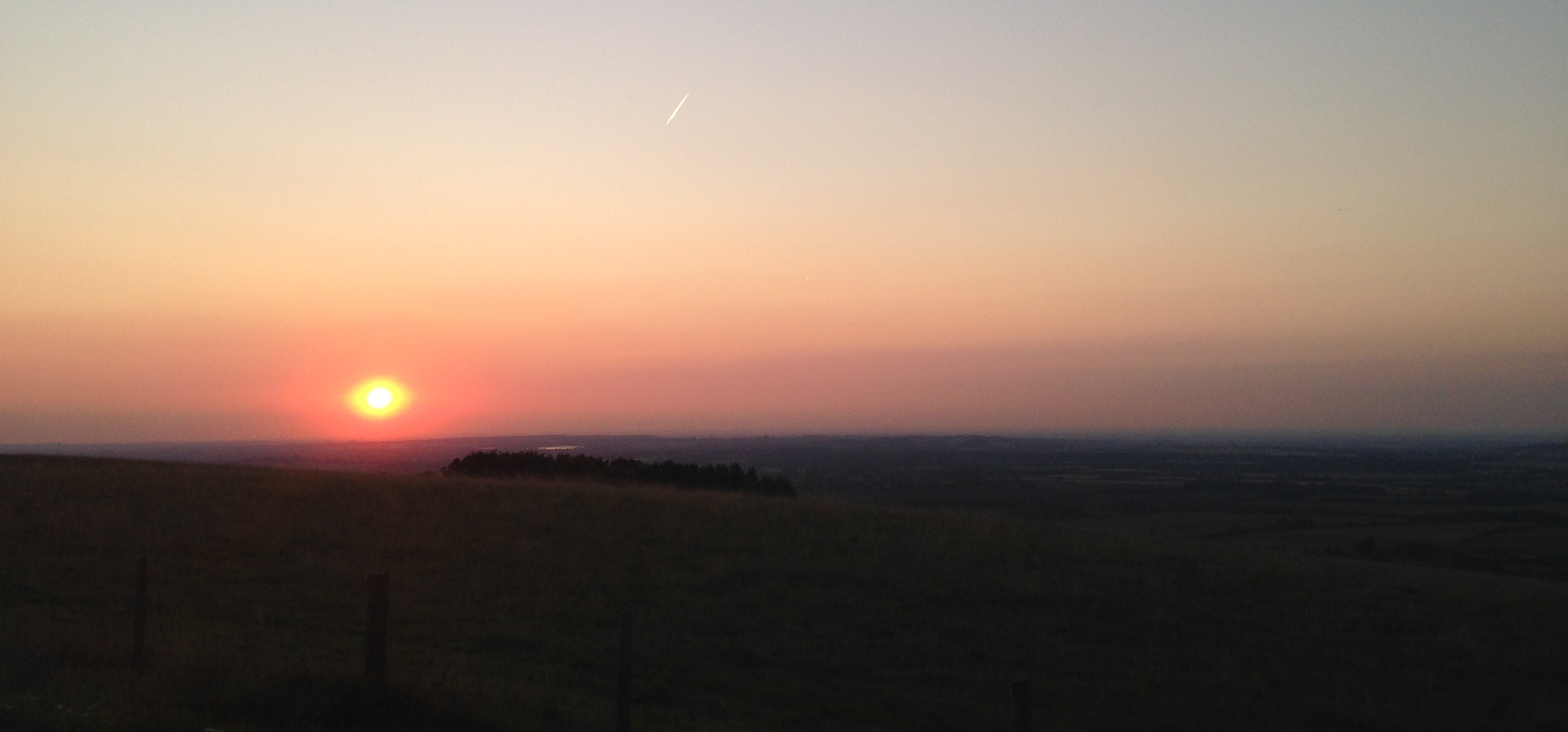 White Horse Hill sunset