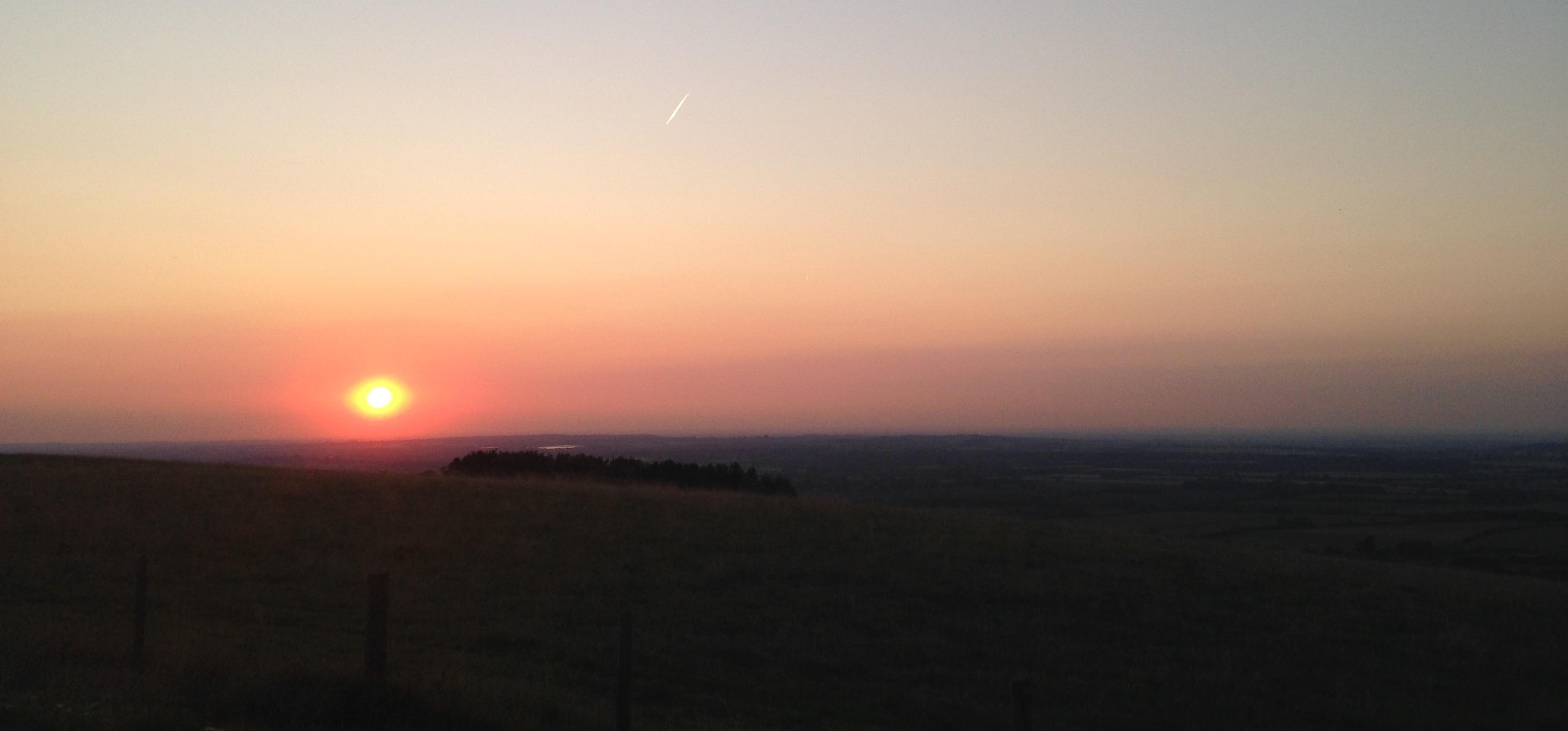 White Horse Hill sunset